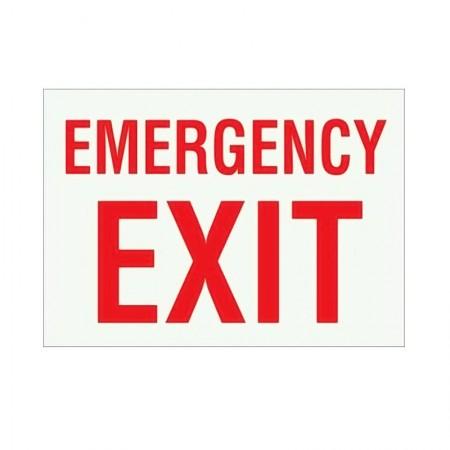 """BRADY 90494 B-324 """"Emergency Exit"""""""