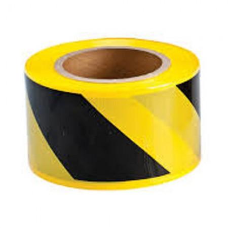 "BRADY 91238 Barricade Tape Black/Yellow 3""X500'"
