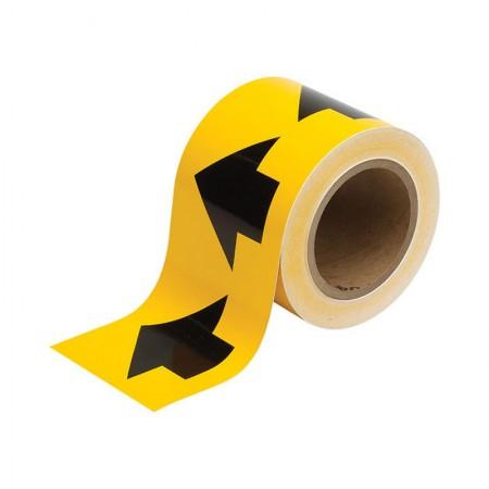 """BRADY 91287 Arrow Tape Black/Yellow 4""""X30YDS"""