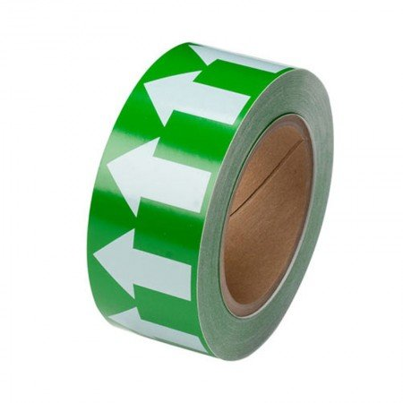 """BRADY 91421 B-946 Arrow Tape White On Green 2""""X30YD"""