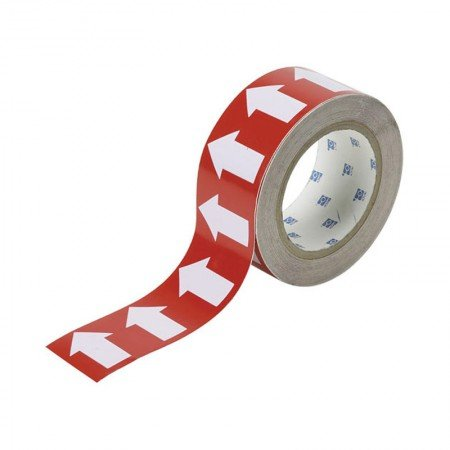 "BRADY 91422 Arrow Tape White/Red 2""X30YDS"