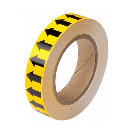 """BRADY 91424 Arrow Tape Black/Yellow 1""""X30YDS"""