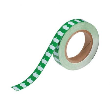 """BRADY 91425 Arrow Tape White/Green 1""""X30YDS"""
