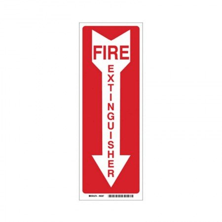 BRADY Fire Extinguiser Sticker Sign 14X5 90367