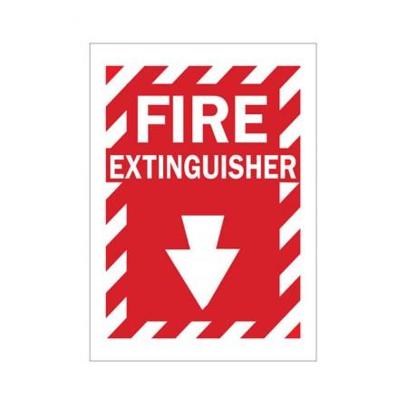 BRADY Fire Sign 14x10 Polyester Sticker 86091