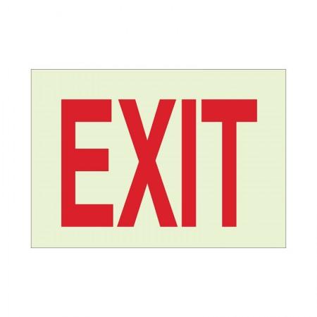 BRADY Glow Exit Sign 10X14 Inc B-324 73510