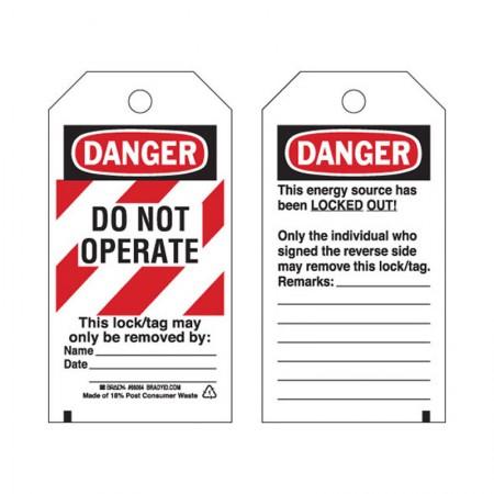 BRADY Heavyduty Tag Donot Operate#F 25EA 65525