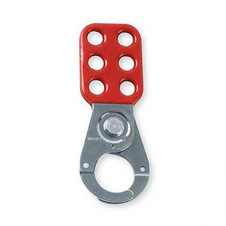 BRADY Lockout Hasp-Red 1.5 Inc Jaw 12 EA 65376