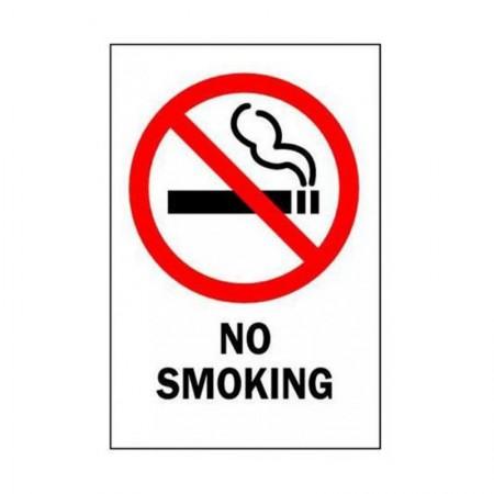 BRADY No Smoking Sign 10X7 STICKER 88427