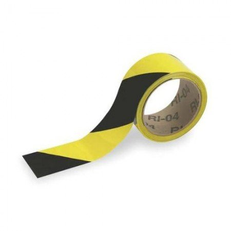BRADY Warning Tape Black/Yellow 2IN 55302