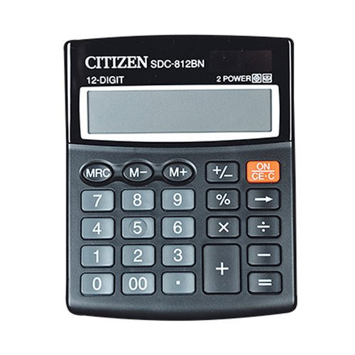 CITIZEN Kalkulator 12 Digit SDC 812BN