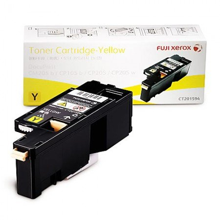 FUJI XEROX Toner Cartridge 1400 Pages CT201594 Yellow