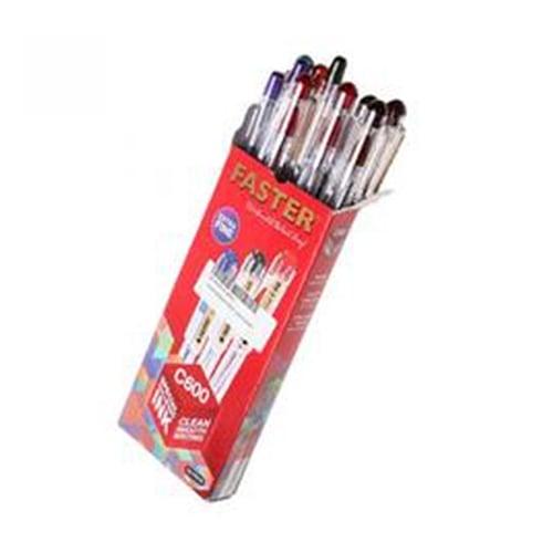 FASTER Pen Ink C600 Merah 12s