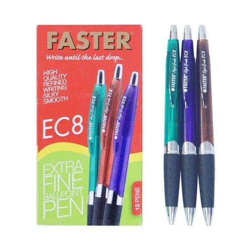 FASTER Pen Ink Ec8 Hitam 12s