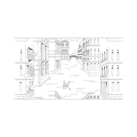 HYUNDAE Fixpix Glass Sheet Sticker Kaca Venezia HP 84054