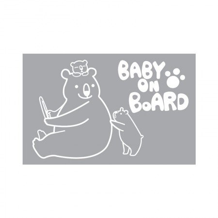 HYUNDAE Fixpix Graphic Sticker Baby On Board GS 58868