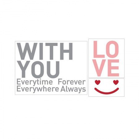 HYUNDAE Fixpix Graphic Sticker Love With You GS 58880