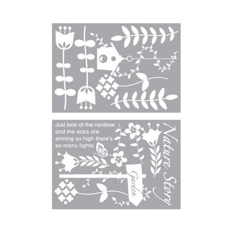 HYUNDAE Fixpix Graphic Sticker Nature Garden GS 58853