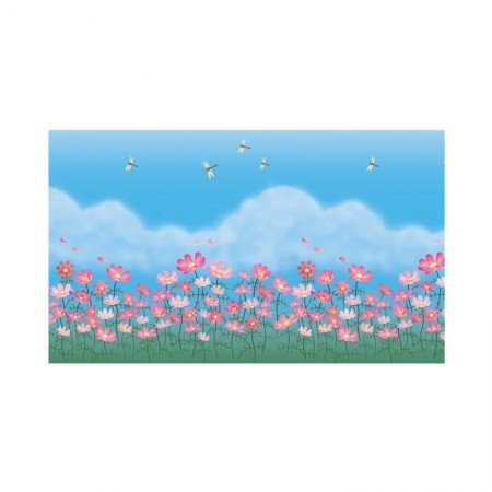 MAGIC FIX Glass Sheet Sticker Kaca Beautiful Flowers NWSC 07