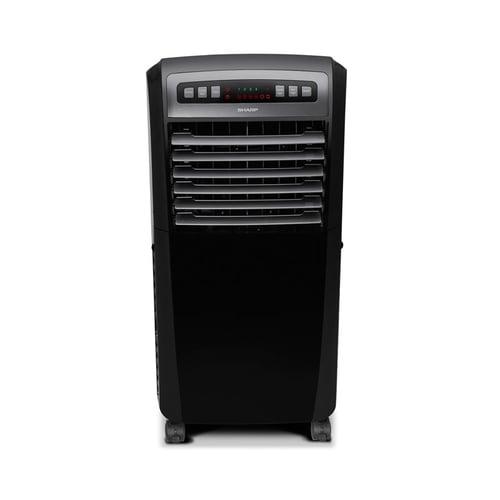 Sharp Air Cooler PJ-A55TY-B - Hitam, 100 Watt, 4 Cooler Ice Pack, Remote Control