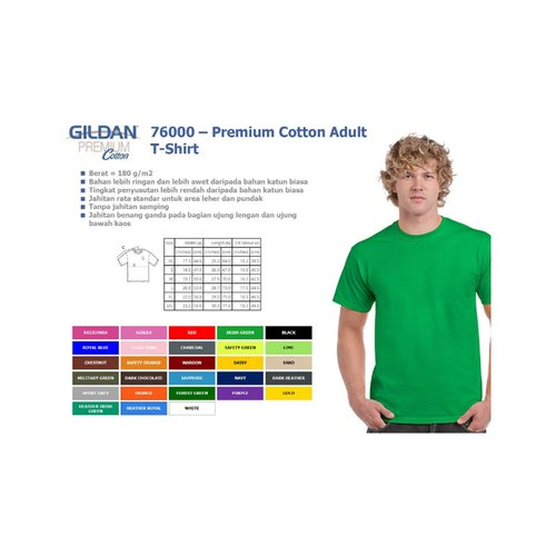 Gildan Kaos Premium Cotton Adult 76000 XXL