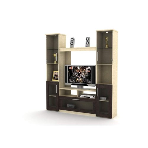 Beijing Display Cabinet Cokelat