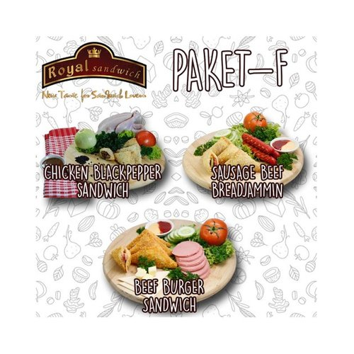 ROYAL SANDWICH Paket F Isi 3 Varian Rasa