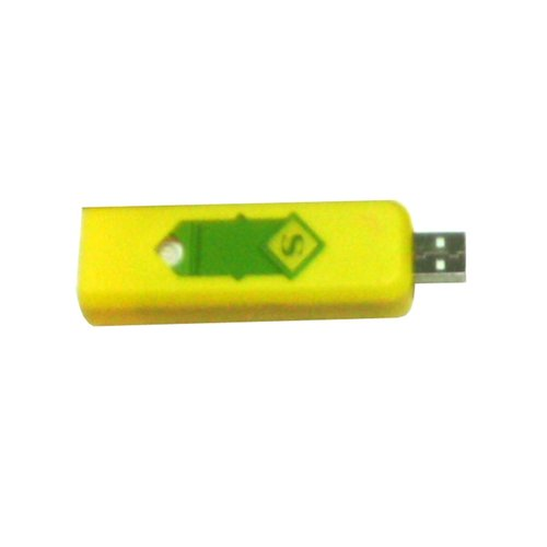 USB Korek Api Elektrik Rechargeable USB Lighter Kuning