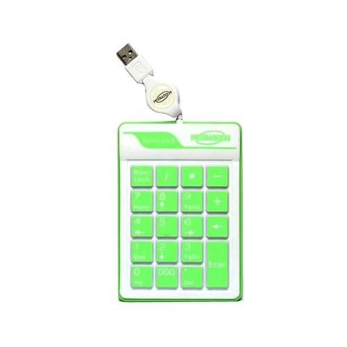 MEDIATECH Waterproof Numeric USB Keyboard Hijau