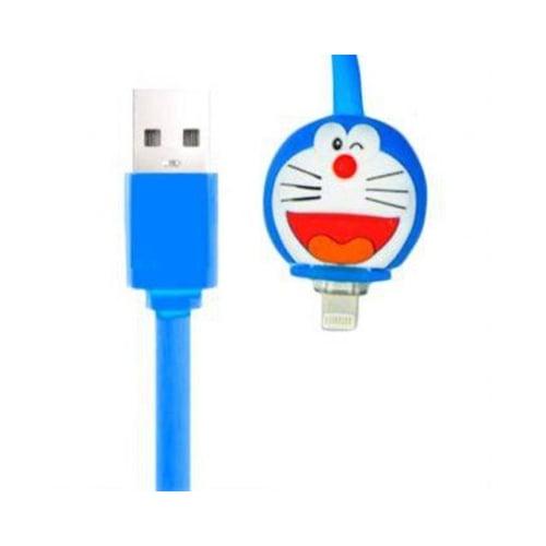 Kabel Led Kartun Iphone 5 Doraemon Biru