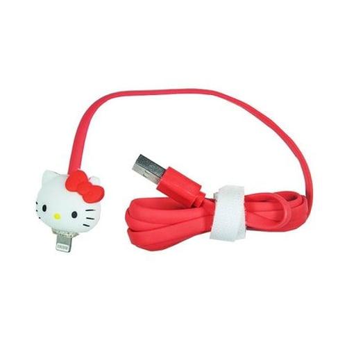Kabel Led Kartun Iphone 5 Hello Kity Merah