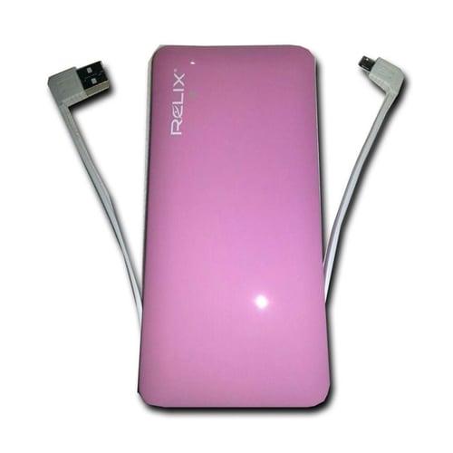 RELIX Power Bank 9800mAh UV Glossy Pink
