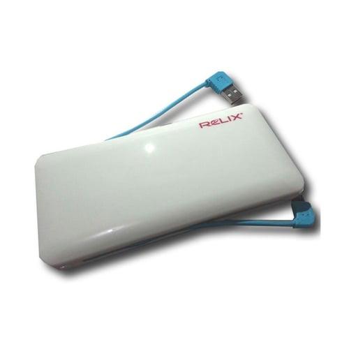 RELIX Power Bank 9800mAh UV Glossy Putih