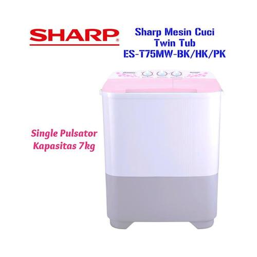 Sharp Mesin Cuci Twin Tub ES-T75MW-BK/HK/PK