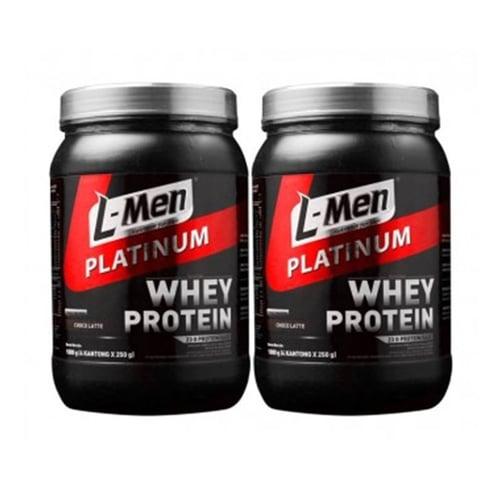 L-MEN Platinum Whey Protein Choco Latte 1Kg Isi 2box