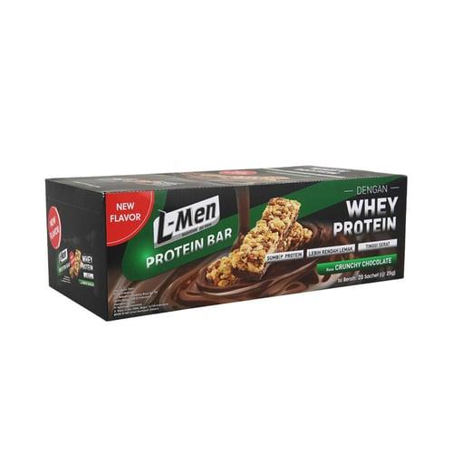 L-MEN Protein Bar Crunchy Chocolate Isi 20 Sachet