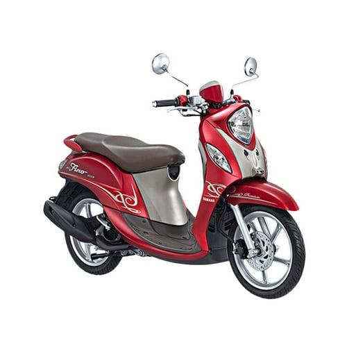 YAMAHA New Fino 125 Premium Sepeda Motor Red Berry