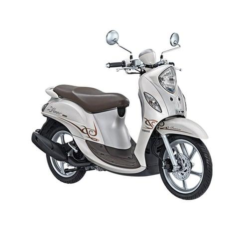 YAMAHA New Fino 125 Premium Sepeda Motor White Latte