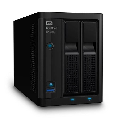 Western Digital WD My Cloud EX2100  4TB WDBWAZ0040NBK-SESN