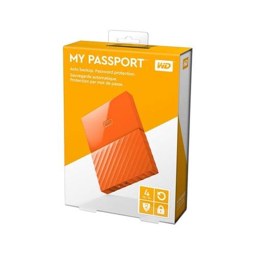 Western Digital WD My Passport 4TB WDBYFT0040BOR-WESN - Orange