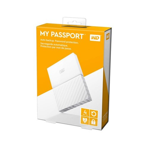 Western Digital WD My Passport 4TB WDBYFT0040BWT-WESN - White