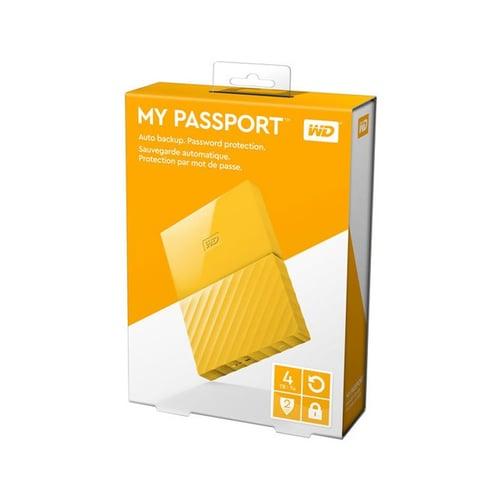 Western Digital WD My Passport 4TB WDBYFT0040BYL-WESN - Yellow
