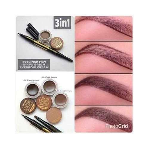 LANBIS Eyebrow Gel And Eyeliner + Brush 3 in1