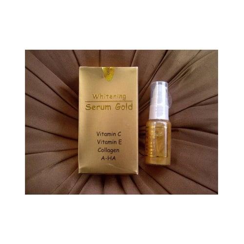 Serum Gold Whitening Vitamin C dan E Collagen Gamat A HA
