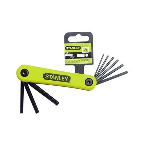 Stanley Hex Key Set 9PC IMP Folding 69-259-22