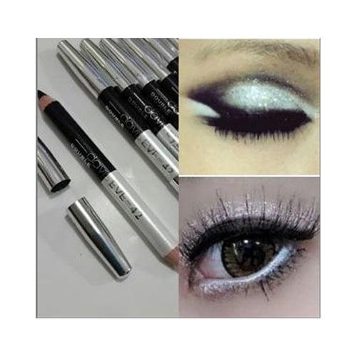 DAVIS [ Ecer ] Eyeliner 2in1 White & Black