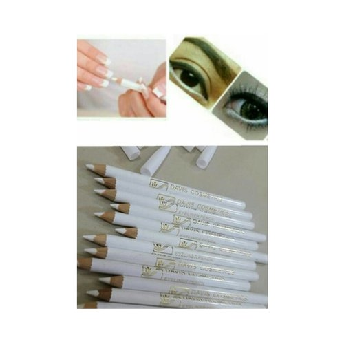 DAVIS [ Ecer ] Pencil Eyeliner & Nail White