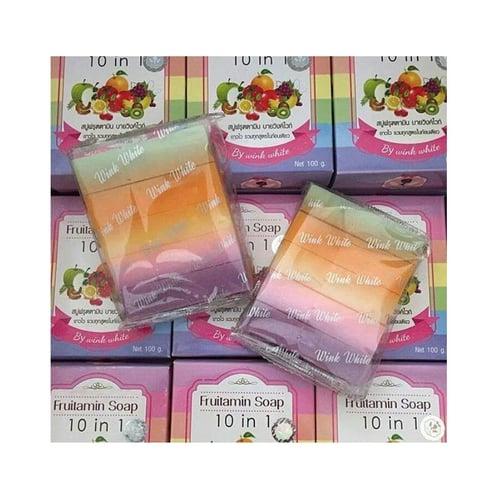 Wink White Fruitamin Soap / Original Thailand / Sabun Pemutih 10in1