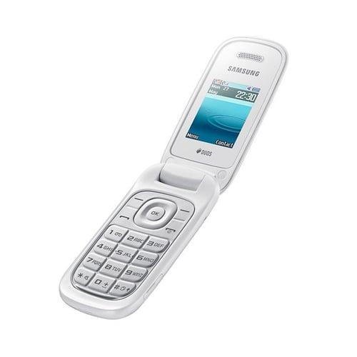 Samsung E1272 Caramel Flip White