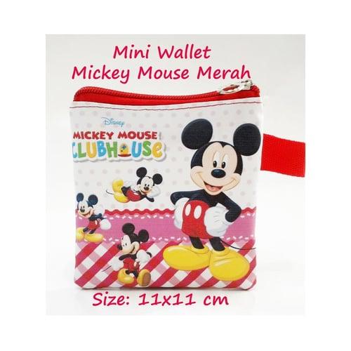 Mini Wallet Mickey Mouse Merah Karakter Fancy